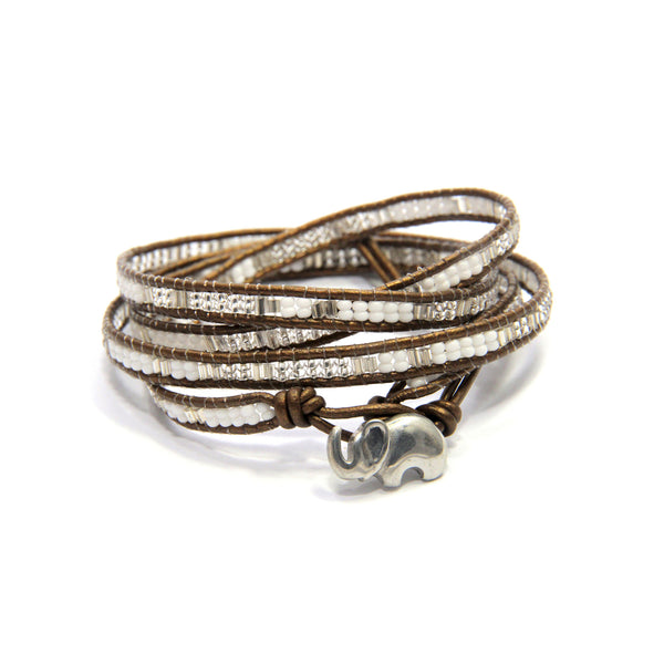 Roi the Elephant 4x Wrap Bracelet