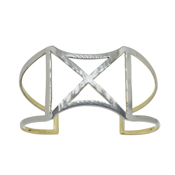 Axis Cuff - Mixed Metals