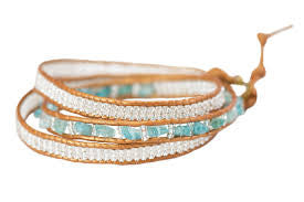 Stone 3x Wrap Sky Collection Bracelet