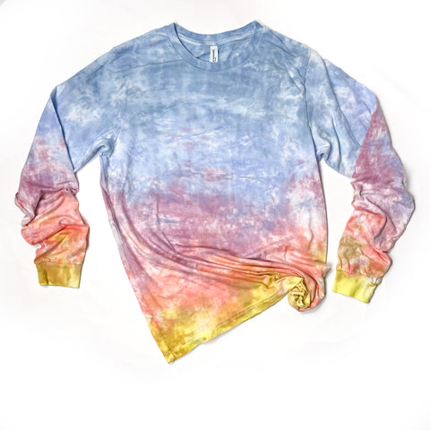 Adult Unisex T-shirts, Sunset, long sleeve