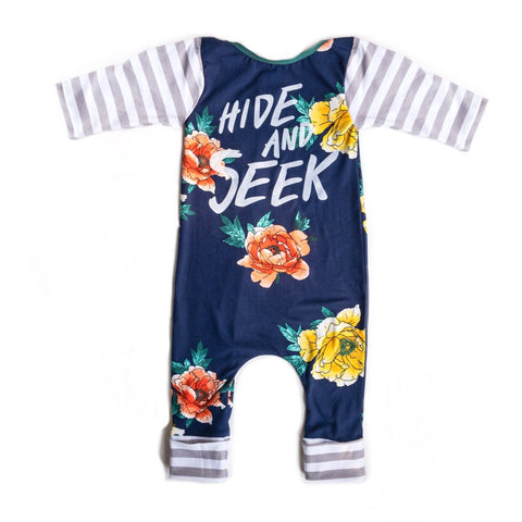 Hide and Seek, navy floral