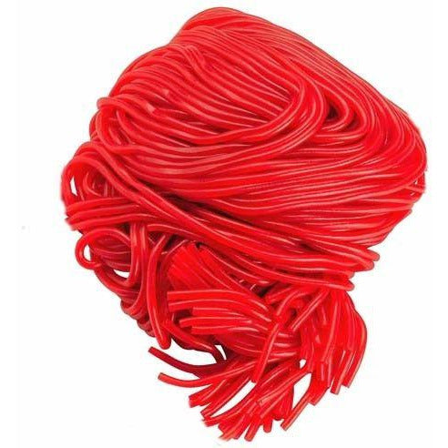 Strawberry Red Licorice Laces - Giddy Candy
