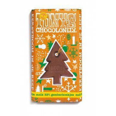 Tony's Chocolonely Christmas Bar Milk Chocolate Gingerbread