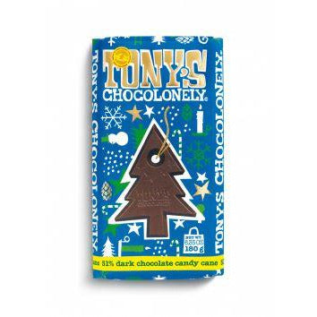 Tony's Chocolonely 51% Dark Chocolate Candy Cane Bar