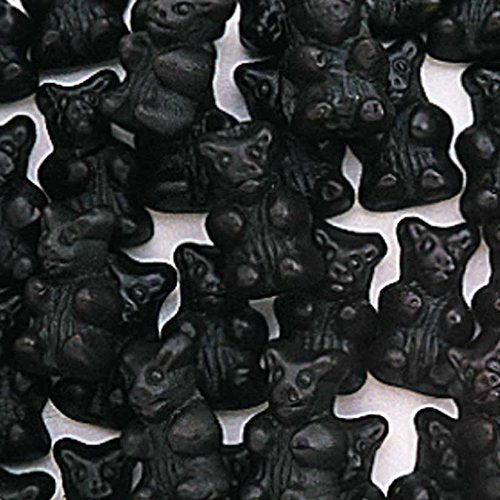 Sugar Free Black Licorice Bears - Giddy Candy