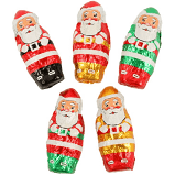 Chocolate Foil Wrapper Mini Santa's