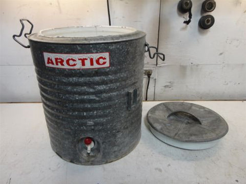 ARCTIC BRAND WATER COOLER METAL ANTIQUE SUMMER GATORADE SPORTS INSULATED