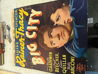 Big City Spencer Tracy 1937 Frank Borzage  MOVIE POSTER RAINER SHOW PICTURE