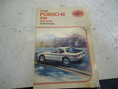 76-78 PORSCHE MANUAL 924 1976 1978 78 76 SERVICE HOT ROD BOOK LITERATURE OEM