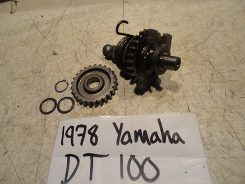1974 Yamaha DT100 Kick Start Gear Shaft Spindle Spring Assembly 403-15660-02-00