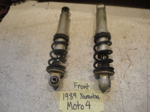 89 Yamaha 250 moto 4 front shock left right set 3GH-23350-00-33 pair yfm250 oem