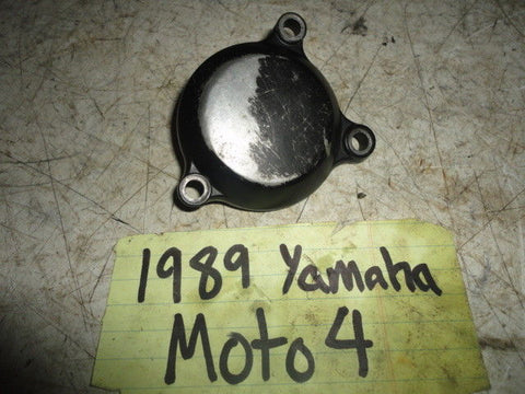 89 YAMAHA YFM250 MOTO 4 OIL FILTER CLEANER ELEMENT CAP COVER 5XG-E3447-00-00