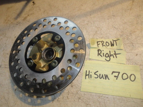 HISUN 700 UTV FRONT LEFT RIGHT WHEEL HUB BRAKE DISC ROTOR brakes wheel oem