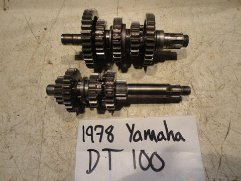 1980 80 YAMAHA MX100 MX 100 558-17410-00-00 ENGINE TRANSMISSION TRANNY GEARS