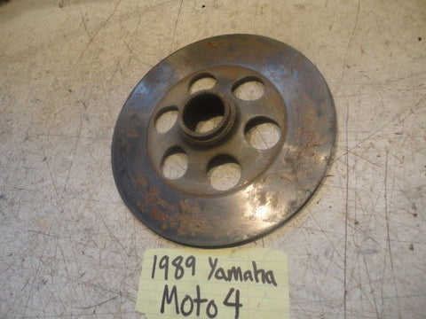 Yamaha Moto 4 250 YFM250 1989 89 21V-25711-01-00 rear brake disc rotor housing
