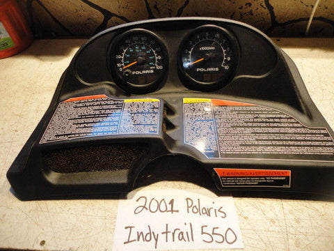 01 2001 SNOWMOBILE POLARIS RMK 550 fan GAUGE dash instrument speedo tach odo