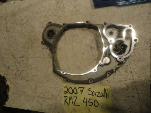 07 Suzuki RMZ450 RMZ 450 RIGHT INNER CLUTCH CASE COVER WATER PUMP 11340-35G20