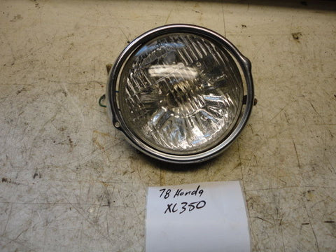 74-78 HONDA XL125 XL175 MT125 XL350 HEADLIGHT oem BUCKET HEADLIGHT