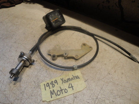 Yamaha Moto 4 250 89-91 Speedometer Gauges cable oem 3GH-83550-00-00 gear speedo
