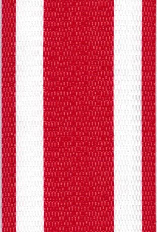 Red and White Stripe Lawn & Beach Chair Webbing / Strapping