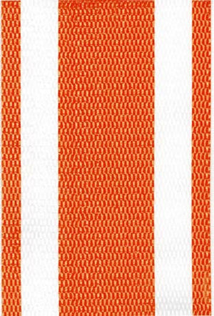 Orange and White Stripe Lawn & Beach Chair Webbing / Strapping