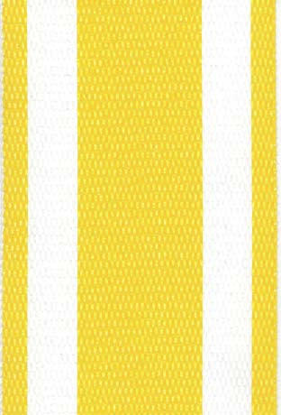 Yellow and White Stripe Lawn & Beach Chair Webbing / Strapping