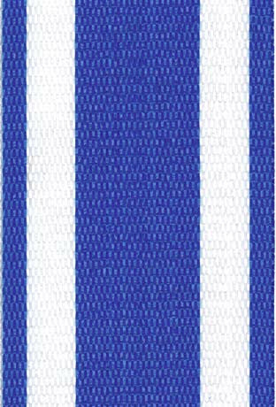 Blue and White Stripe Lawn / Beach Chair Webbing / Strapping