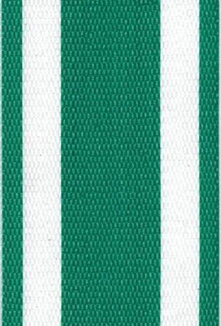 Green and White Stripe Lawn / Beach Chair Webbing / Strapping