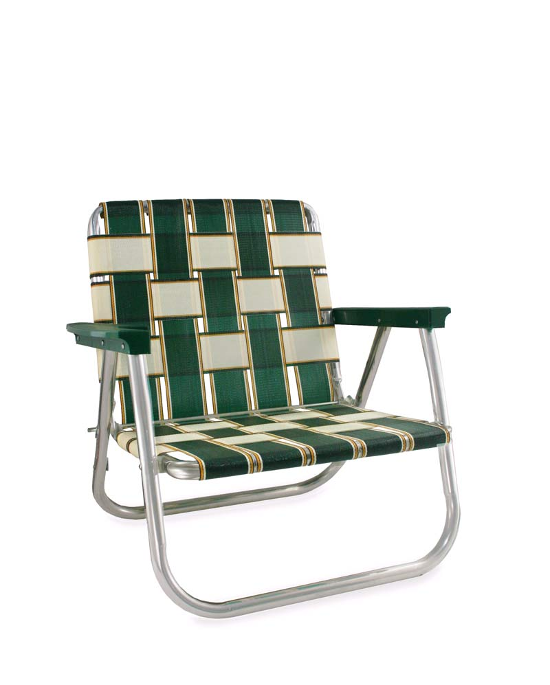 Charleston Beach Chair Green Aluminum Web Chair Lawn