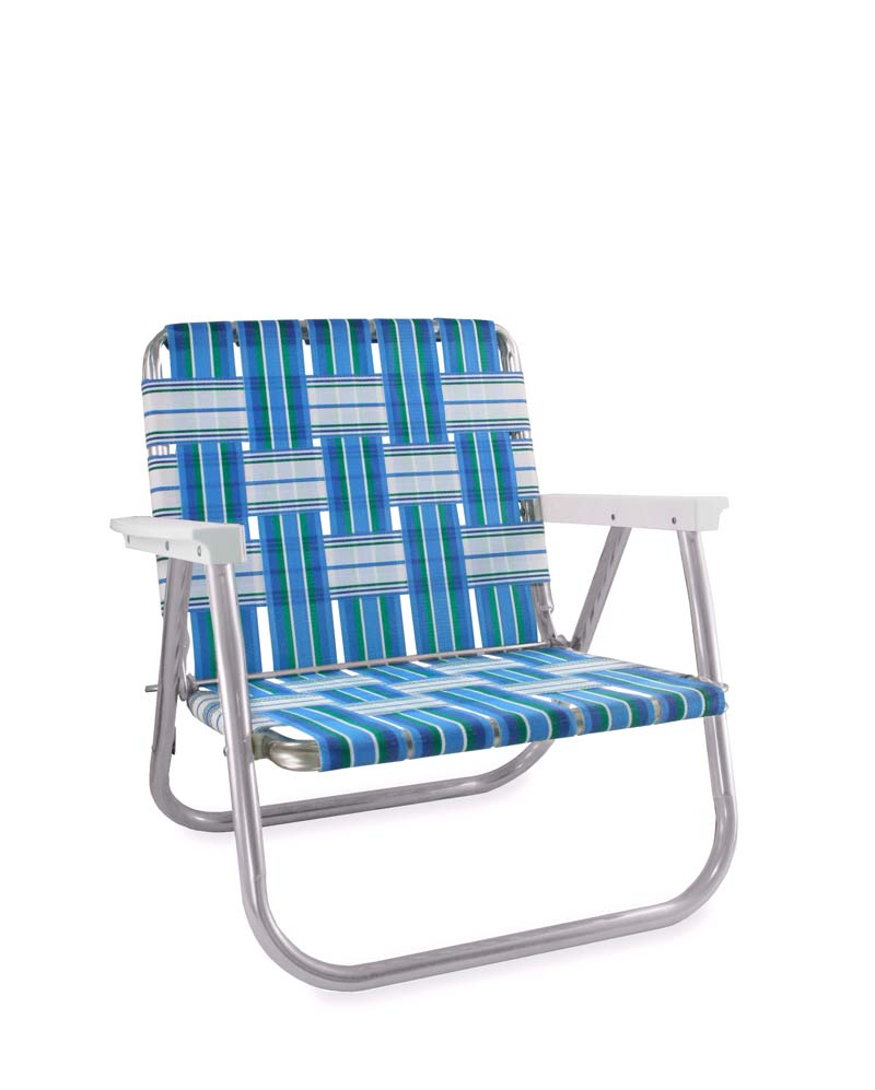 Lawn Chair USA Sea Island Folding Aluminum Webbing Beach Chair