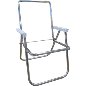 Lawn Chair USA Macrame Folding Chair Aluminum Frame Seat