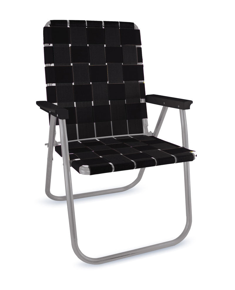 Midnight Folding Aluminum Webbing Lawn Chair Deluxe