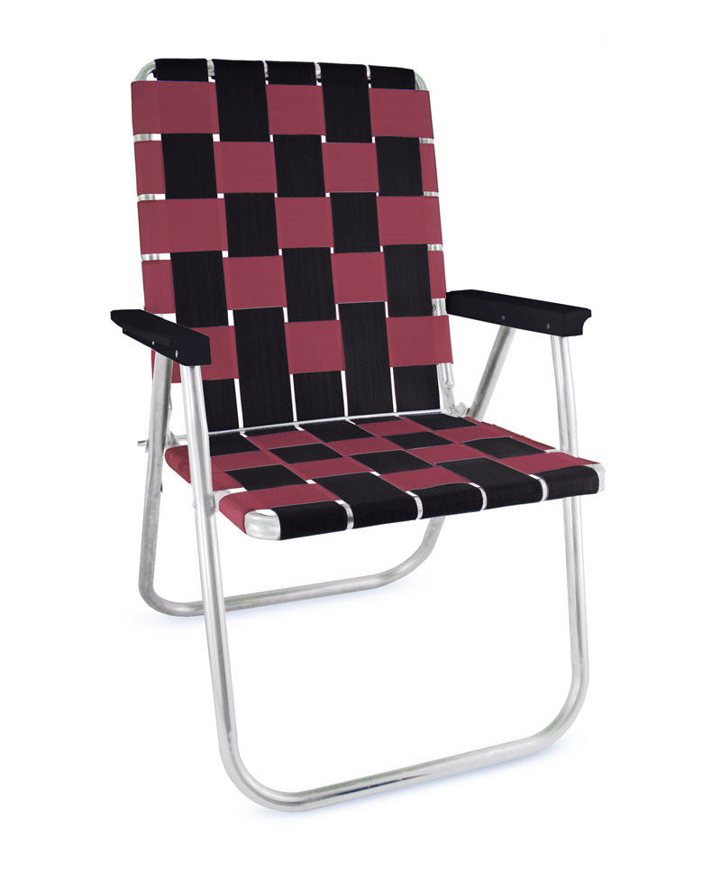 Black & Burgundy Classic Chair