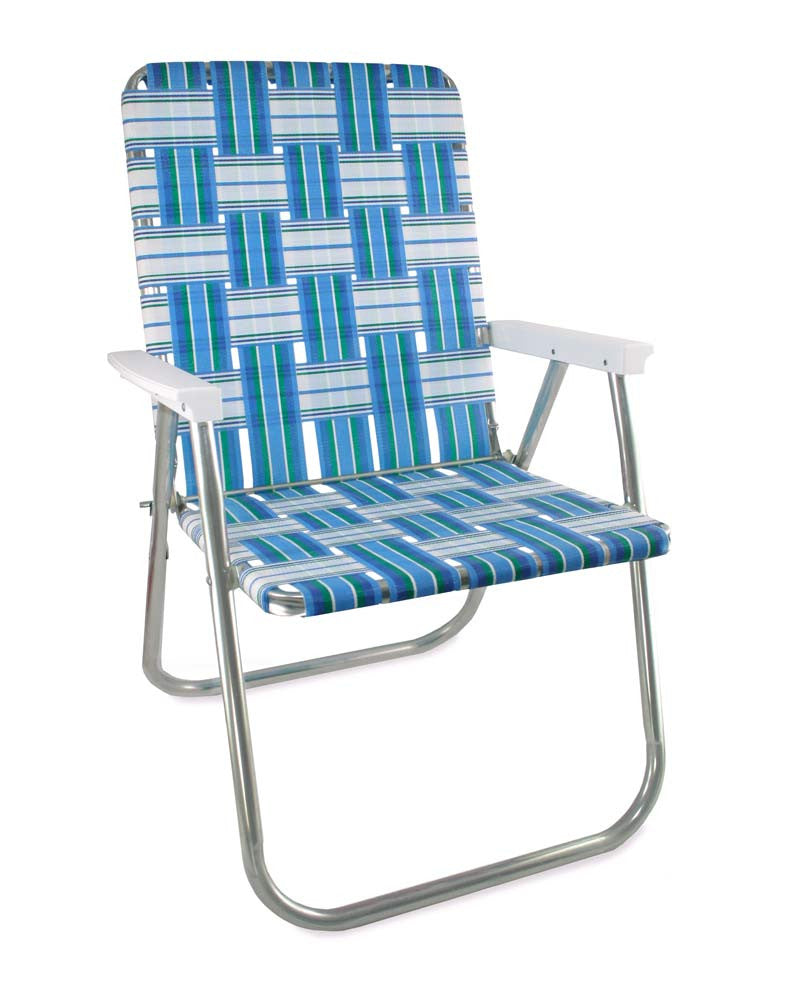Superieur Sea Island Folding Aluminum Webbing Lawn U0026 Beach Chair Deluxe