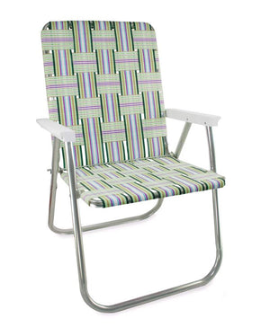 Spring Fling Folding Aluminum Webbing Lawn & Beach Chair Deluxe