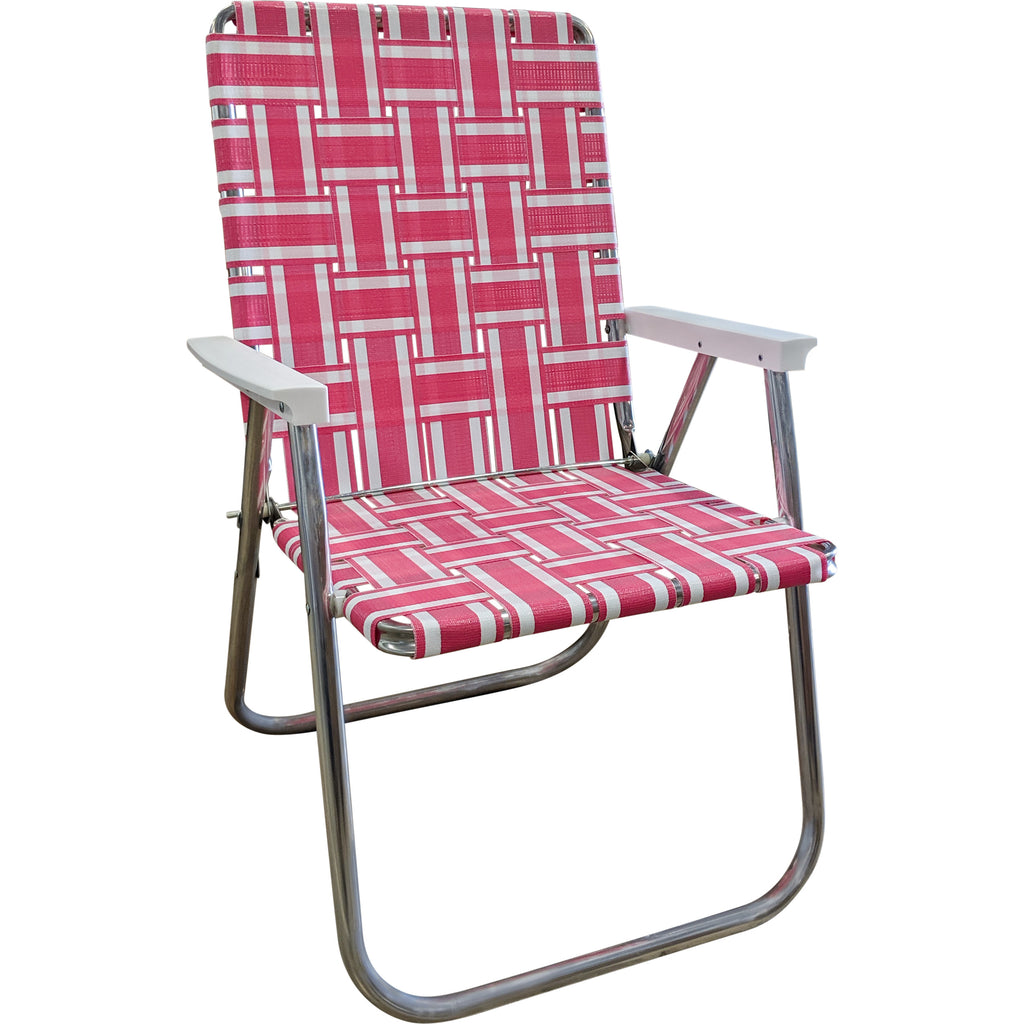 Pink and White Stripe Classic Chair