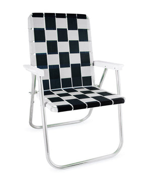 Black & White Classic Chair with White Arms