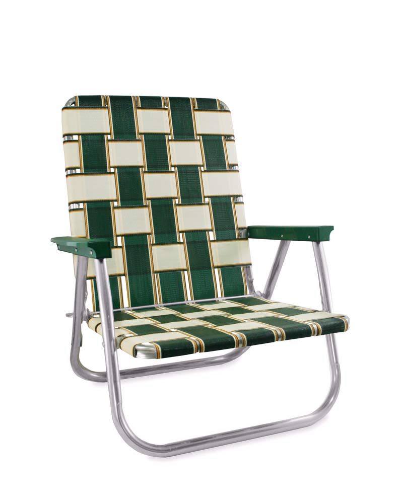 Lawn Chair USA Charleston Folding Aluminum Webbing High Beach Chair