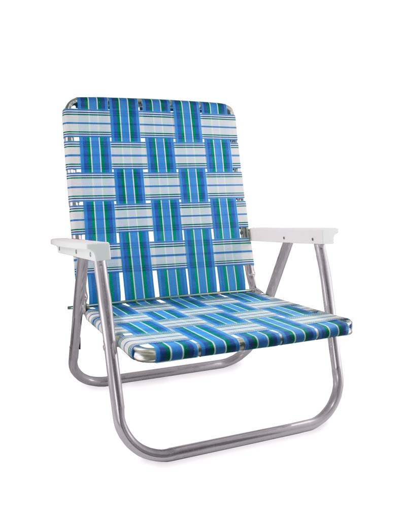Lawn Chair USA Sea Island Folding Aluminum Webbing Reader Chair
