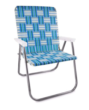 Lawn Chair USA Sea Island Folding Aluminum Webbing Magnum Chair