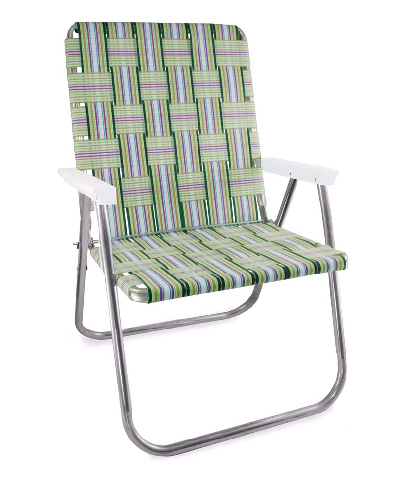 Lawn Chair USA Spring Fling Folding Aluminum Webbing Magnum Chair