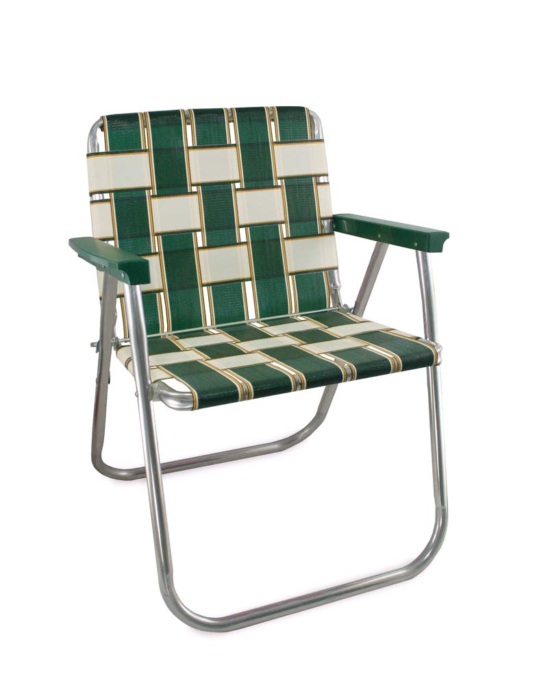 Lawn Chair USA Charleston Folding Aluminum Webbing Picnic Chair