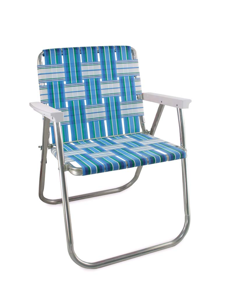 Lawn Chair USA Sea Island Folding Aluminum Webbing Picnic Chair