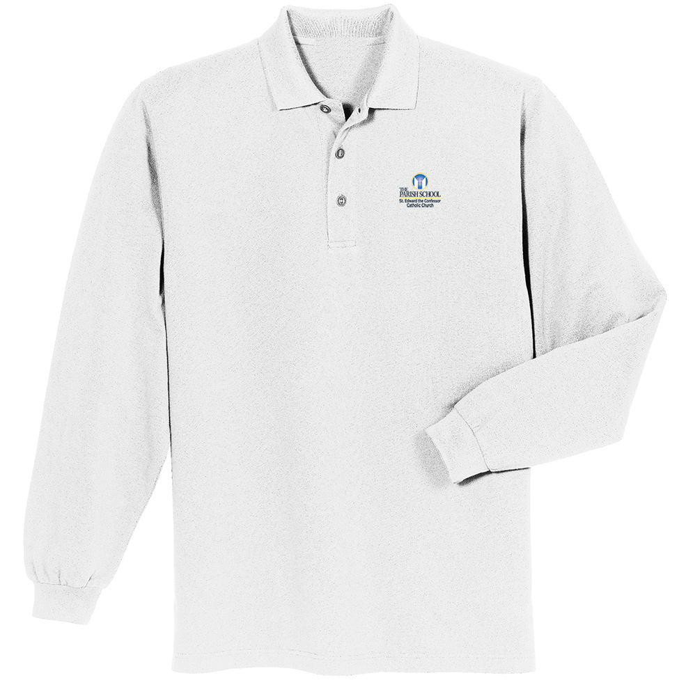 Unisex K-8 Everyday Long Sleeve Polo Shirt