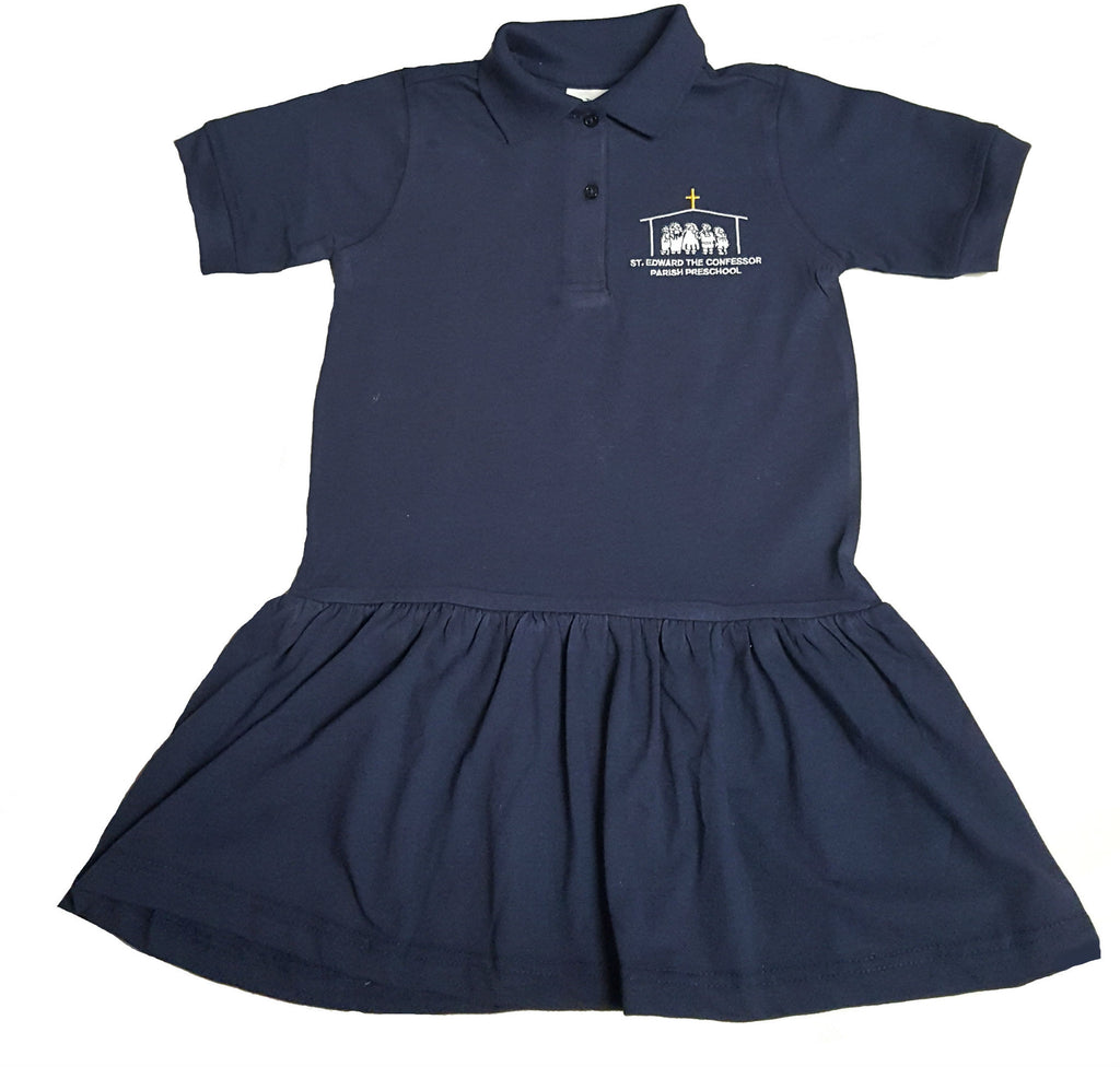 Girls Jersey Polo Dress For Preschool