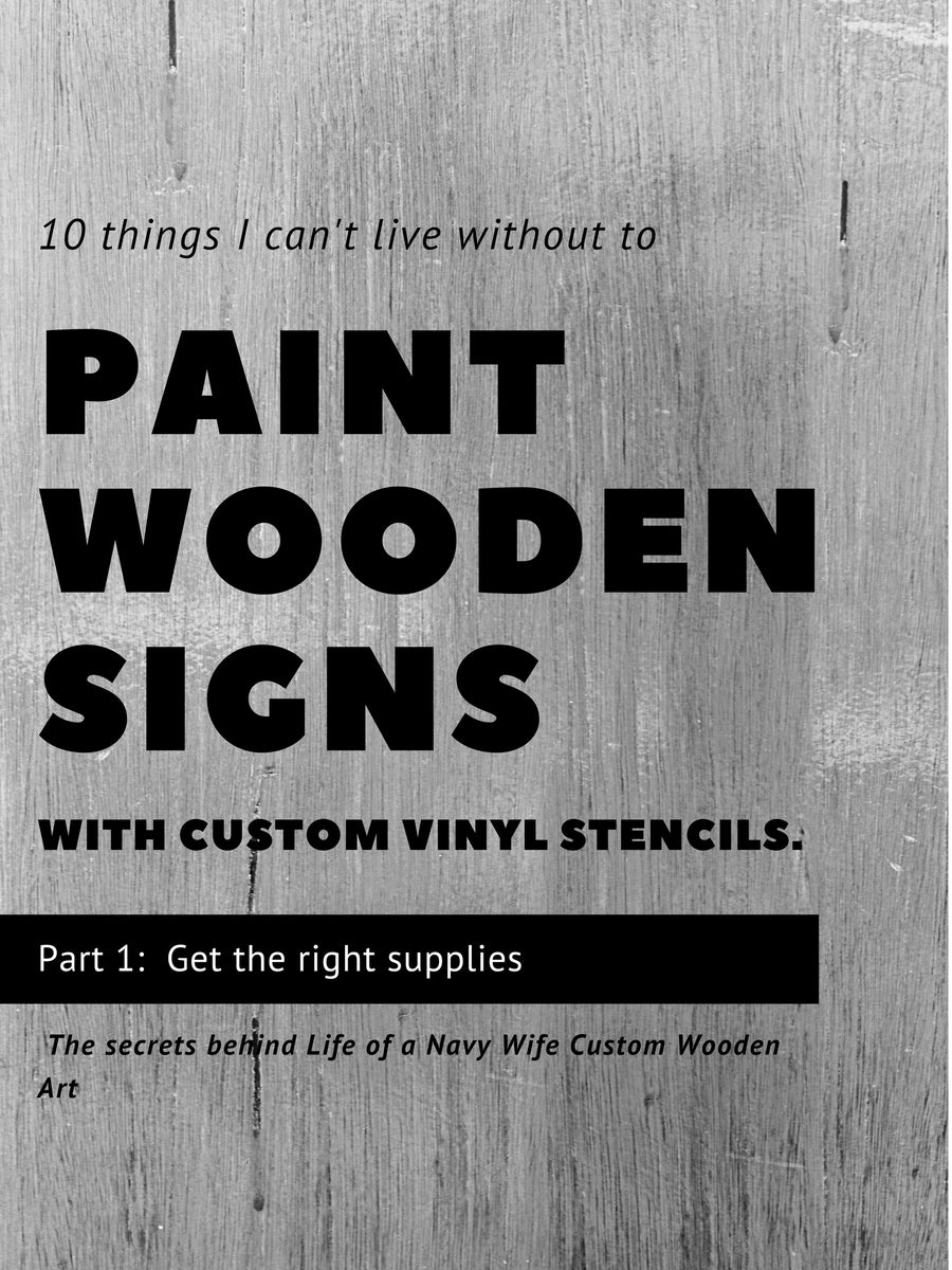 My secrets   10 items I cannot live without to paint wooden