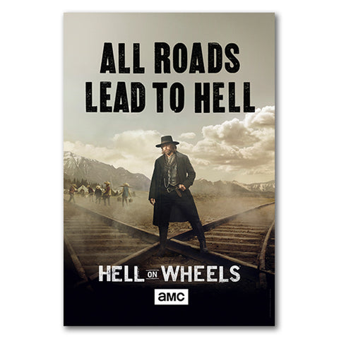 Hell on Wheels Teaser Poster Signed by Anson Mount