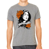 Grey Crewneck T-Shirt with Art Inspired by Orange is the New Black