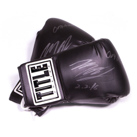 Tile Boxing Gloves Signed by Michael B. Jordan