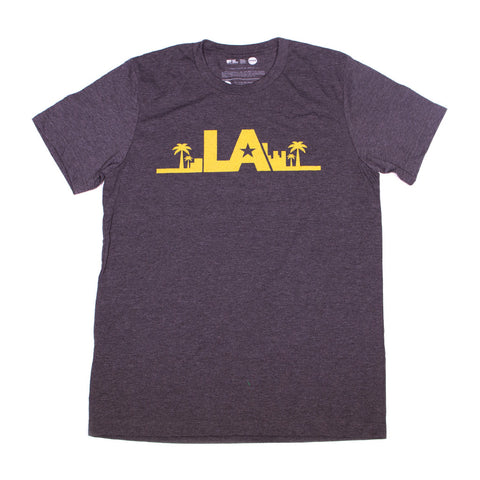 "Grey Crewneck ""LA"" T-Shirt"